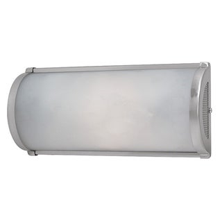 Access 'Rayon' 2-light Brushed Steel Wall Sconce