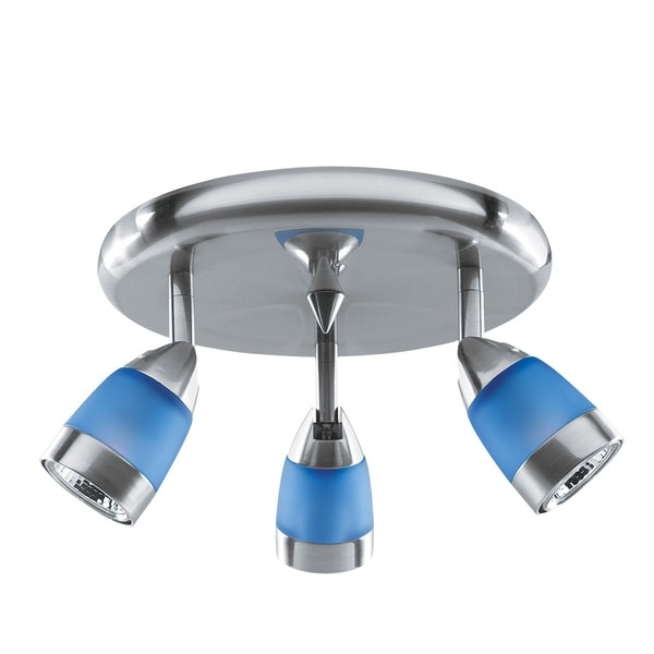 Access 'Spot' 3-light Brushed Steel Spotlight Cluster