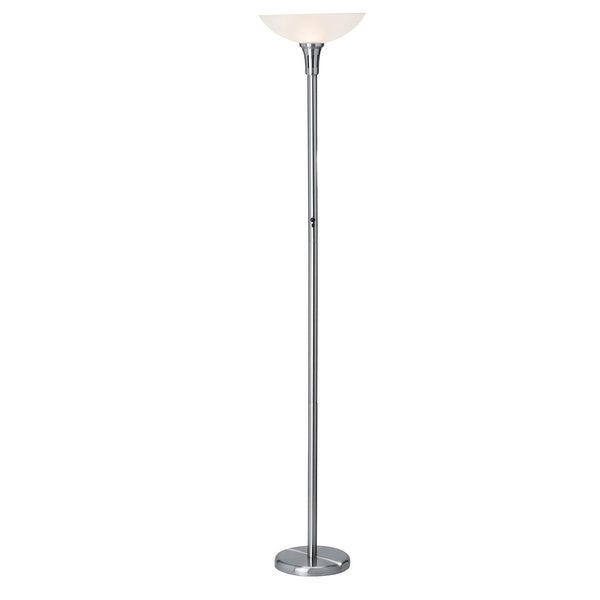 access 39 swan 39 1 light brushed steel remote floor lamp. Black Bedroom Furniture Sets. Home Design Ideas