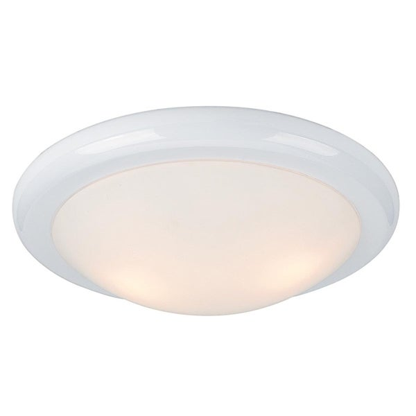 Access 'Selena' 3-light White Flush Mount