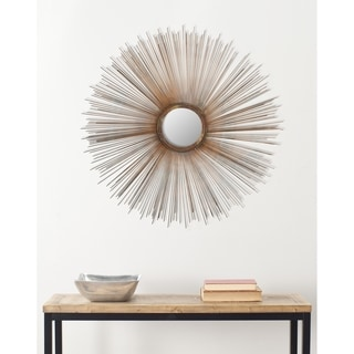 Handmade Arts and Crafts Sun Burst Wall Mirror