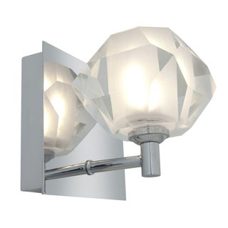 Access 'Glas'e' 1-light Chrome Diamond Vanity Fixture