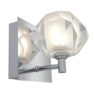 Access 'Glas'e' 1-light Chrome Diamond Vanity Fixture