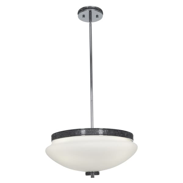Access 'Onyx' 4-light Chrome Bowl Pendant