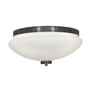 Access 'Onyx' 3-light Chrome 13-inch Flush Mount