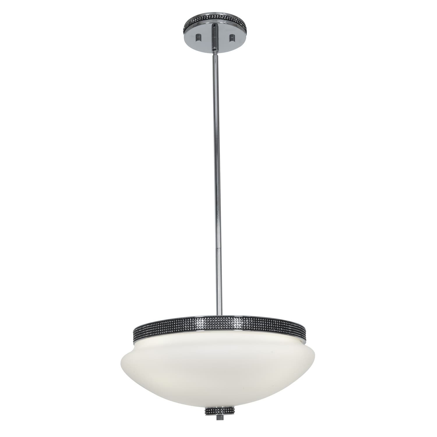 Access 'Onyx' 3-light Chrome Bowl Pendant