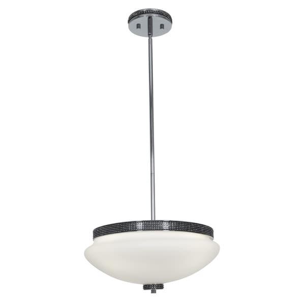 Access 'Onyx' 3-light Chrome Bowl Pendant