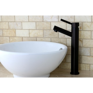 Oil Rubbed Bronze Faucet/ Vitreous China Sink Set