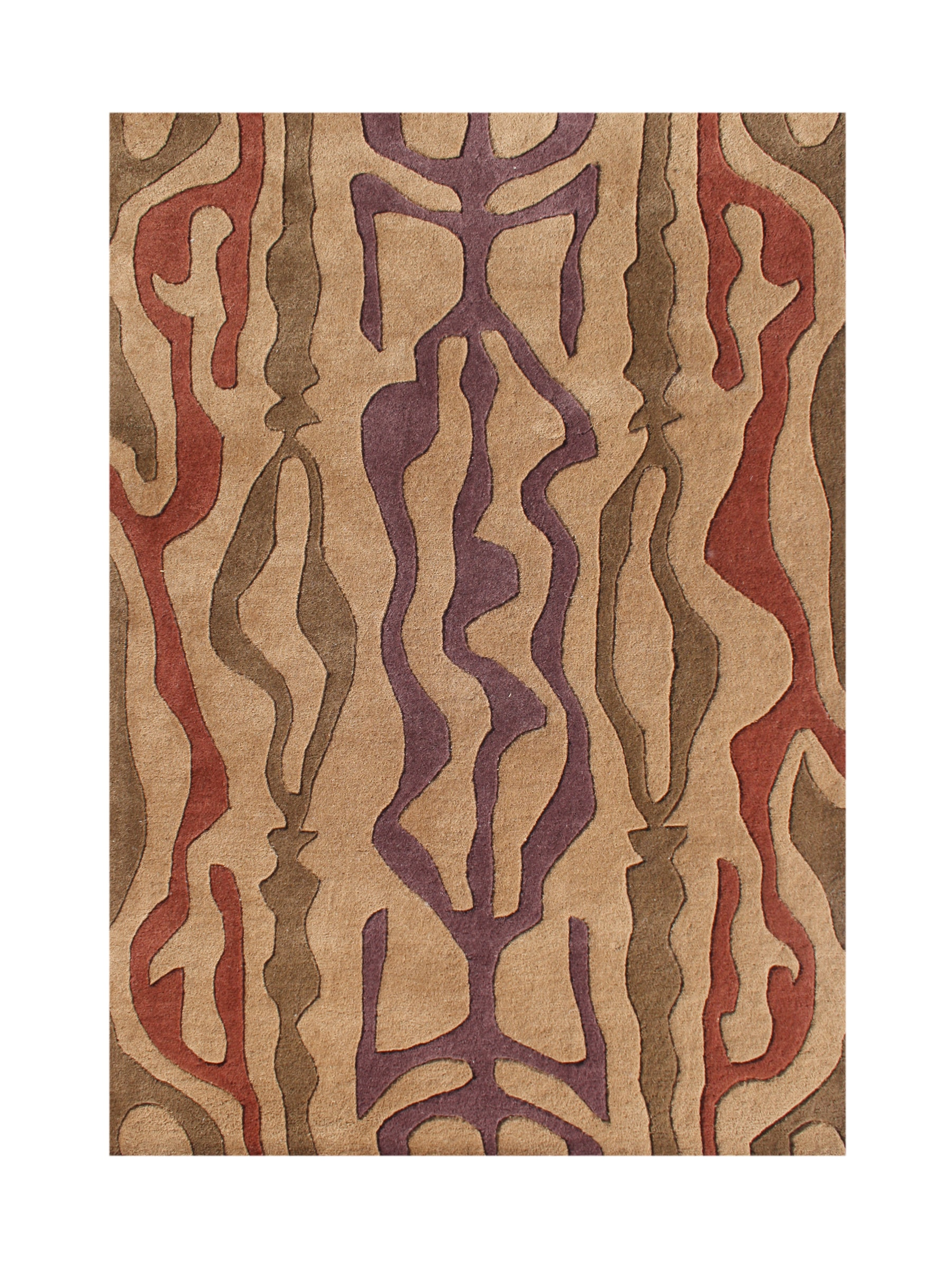 Alliyah Handmade Earth New Zealand Blend Wool Rug (5' x 8')