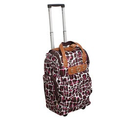 Runway Lady's Lightweight Brown Carry-on Rolling Luggage Bag