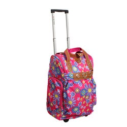 Runway Lady's Lightweight Sunflower Carry-on Rolling Luggage Bag