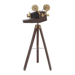 Hollywood Vintage Brass Film Projector Accent