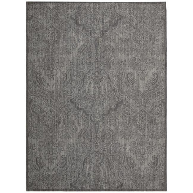 Nourison Joseph Abboud Majestic Pewter Paisley Rug (7'9 x 10'10)