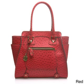 London Fog Knightsbridge Ostrich Embossed Tote Bag