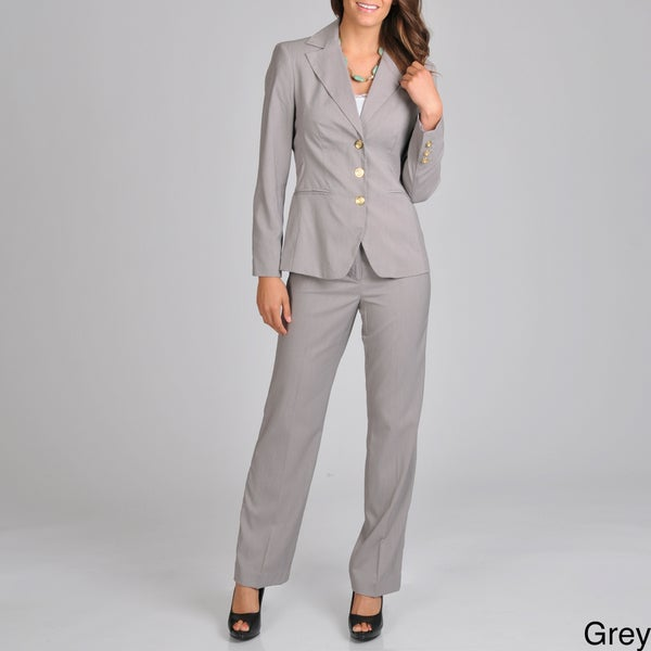 Signature by Larry Levine Women's Career Pant Suit