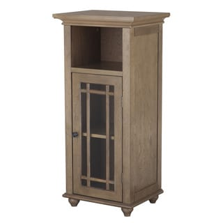 Corina 1 Door Floor Cabinet with Open Shelf