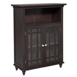 Stripe Double Door Floor Cabinet by Elegant Home Fashions