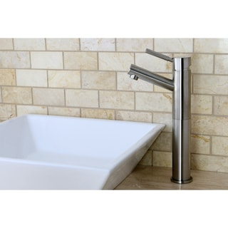 Satin-Nickel Faucet and Vitreous-China Bathroom  Sink