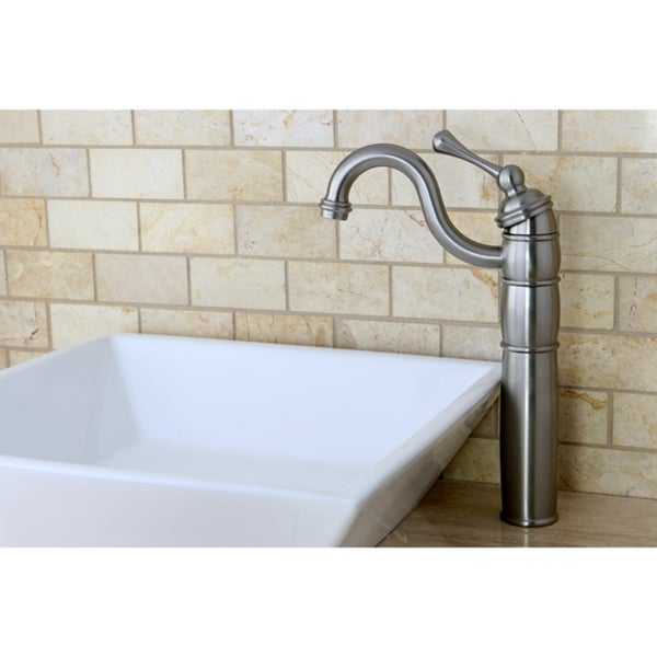 Satin-Nickel Brass Faucet and Vitreous-China Sink