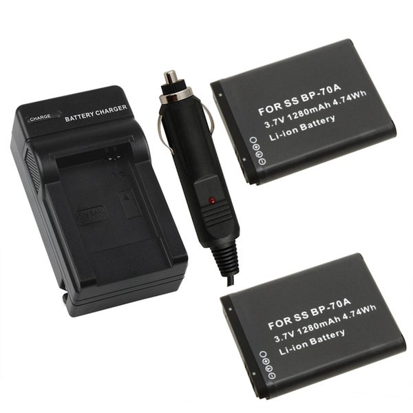 INSTEN Battery/ Charger for Samsung BP-70A/ PL80/ SL600/ TL205