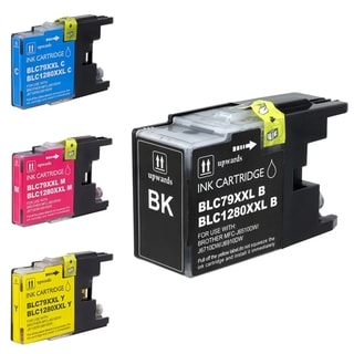 BasAcc Brother Compatible LC79 Extra-high-yield Ink Cartridges (Pack of 4)