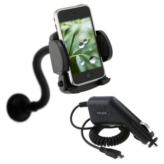 BasAcc Car Charger/ Phone Holder for HTC EVO 4G