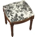 Black Toile Needlepoint Stool