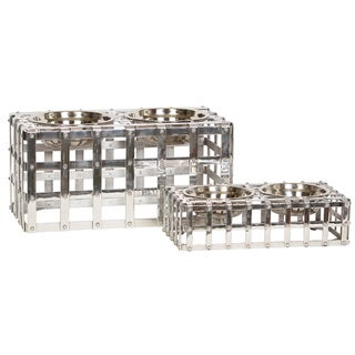 Unleashed Life 'Charters' Metal Table Pet Feeder