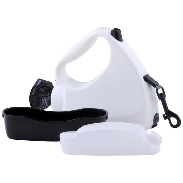 Water Walker 4-in-1 White Retractable Dog Leash