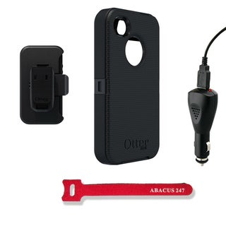 Black OtterBox Defender Protective Case and Holster iPhone 4/4s Case