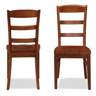 The Aspen Collection Ladder Back Dining Chairs (Set of 2)
