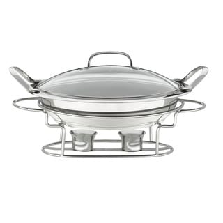 Stainless Steel Classic Entertaining Round 3-quart 12-inch Buffet Server