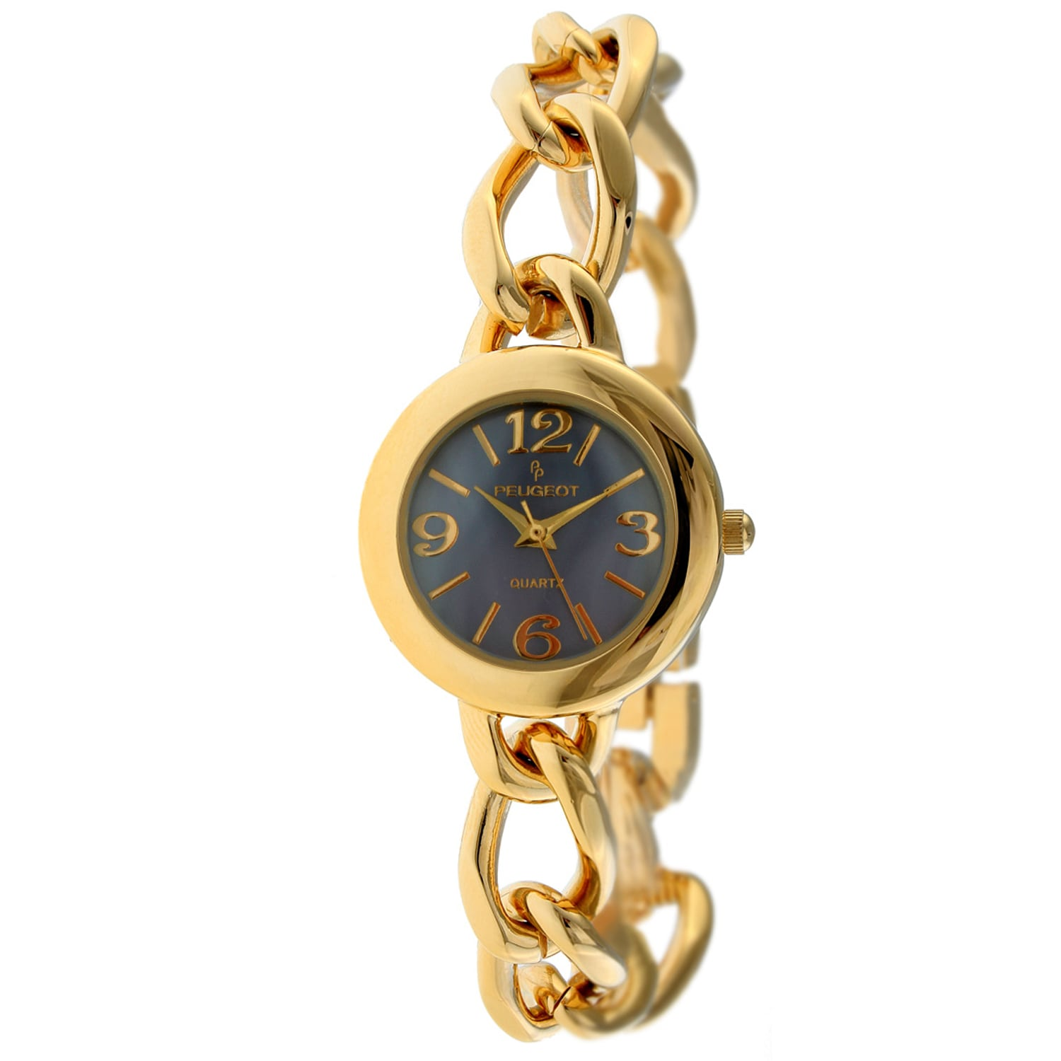 Peugeot Women's '3774PR' Purple Dial Goldtone Watch