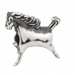 De Buman Sterling Silver Running Horse Charm Bead