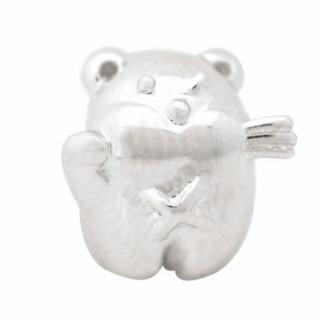 De Buman Sterling Silver Greedy Bear Charm Bead