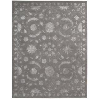 Nourison Hand-tufted Symphony Traditional Taupe Rug (7'6 x 9'6)