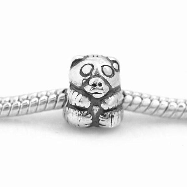 De Buman Sterling Silver Panda Charm Bead