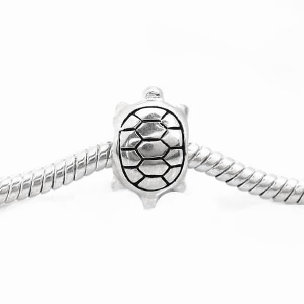 De Buman Sterling Silver Tortoise Charm Bead