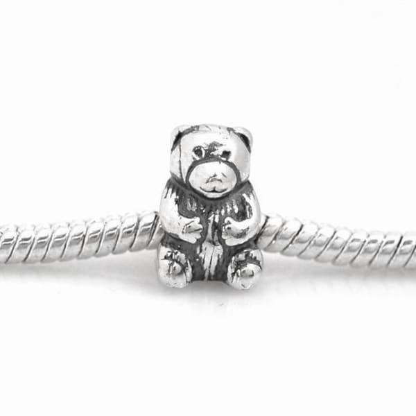 De Buman Sterling Silver Bear Charm Bead