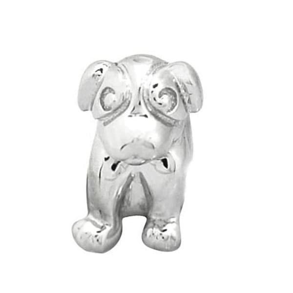 De Buman Sterling Silver Dog Charm Bead