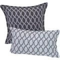 Corona Decor Indoor/Outdoor Decorative Throw Pillow Set (Steel/White)