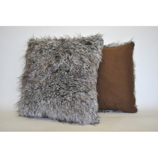 Sherry Kline Grey Wolf Faux Fur Decorative Pillow (Set of 2)