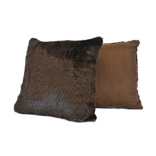 Sherry Kline Grey Wolf Faux-Fur Square Decorative Pillow (Set of 2)