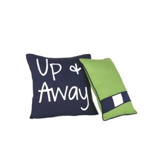 Big Believers Up and Away Decorative Throw Pillows (Set of 2)
