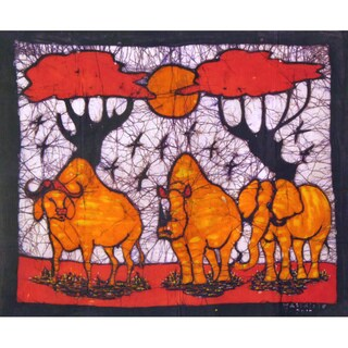 'In Harmony' Batik Wall Hanging (Mozambique)