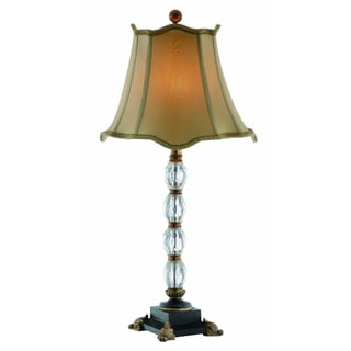 Crystal Lamp with Footed Base
