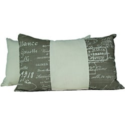 Document Linen Throw Pillows (Set of 2)