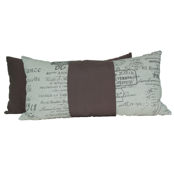 Document Fossil Rectangular Throw Pillows (Set of 2)