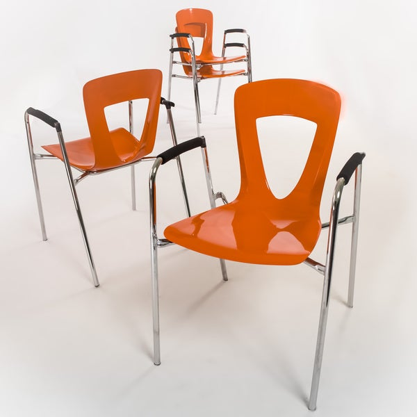 Christopher Knight Home Kennedy Orange Modern Chair (Set of 4)