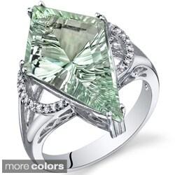 Sterling Silver Kite Shape Gemstone Ring